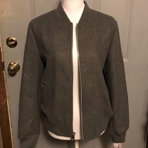 New Levi's large gray wool blend bomber jacket